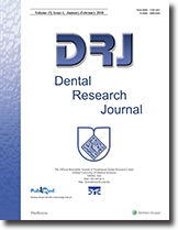 Cover Page of Dental Research Journal